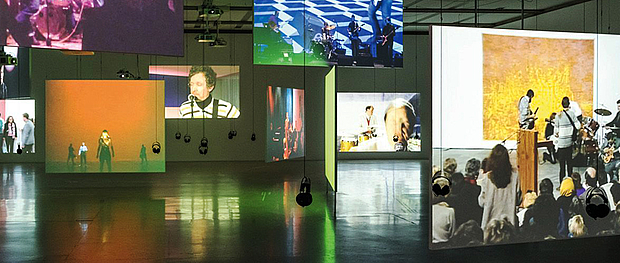 Exhibition view Double Lives. Visual Artists Making Music (detail), 23 Jun.–11 Nov. 2018, mumok – Museum moderner Kunst Stiftung Ludwig Wien, photo: Klaus Pichler © mumok