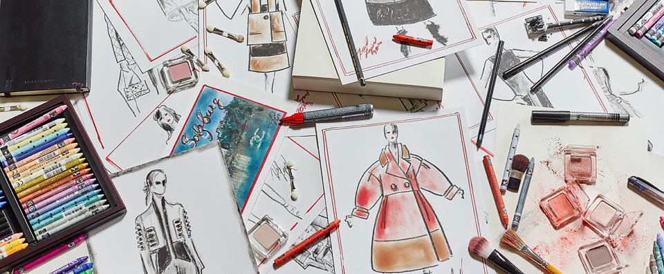 Karl Lagerfeld, Modemethode (Ausschnitt), 2015, Foto: Jens Utzt © Studio Condé Nast 2015